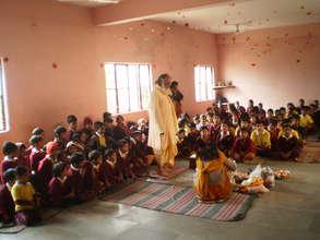 Our school children in Vasant Panchmi Pooja