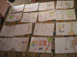 Paintings by students of KG class