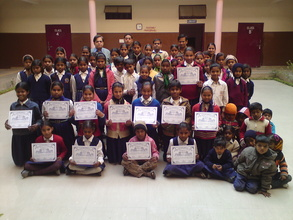 Our children awarded by Gwalior Mela authorities