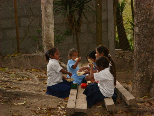 Daily food and fruit in Honduras