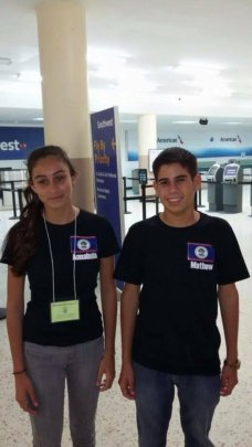 Annabella and Mathew en route to Leadership Camp