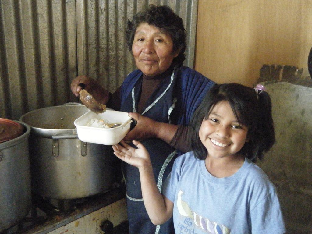 Daily hot food in Peru