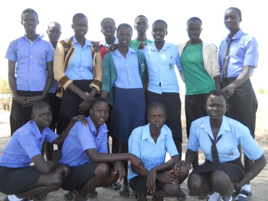 School girls supported by Project Education Sudan