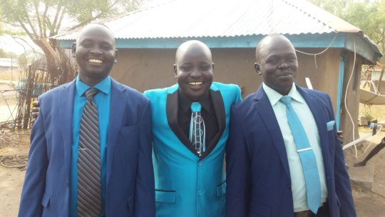 Daniel, brother Ngor & cousin Matuor at Christmas