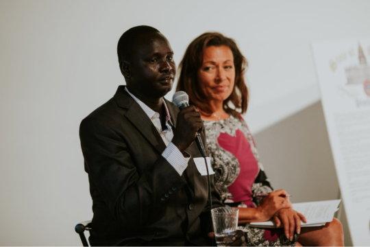 Daniel with Emmy winning Colorado journalist