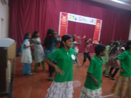 Dancing with other children