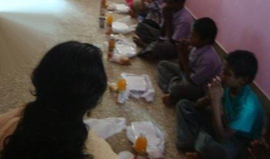 Food served to the children