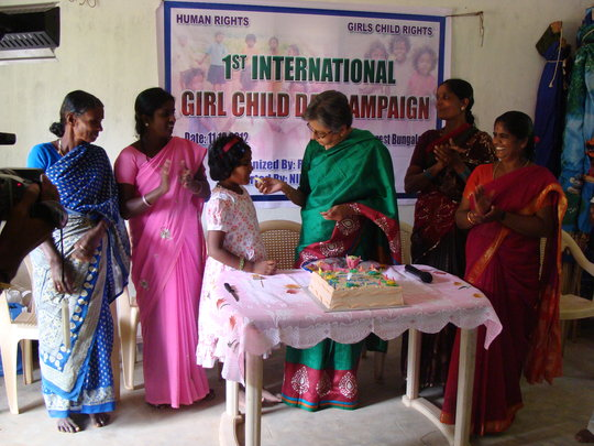Sustenance to the Tribal Girl in Tamil Nadu