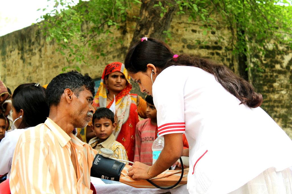 Sharda, 2nd year nursing student during the camp