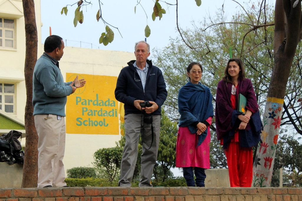 Mr. Ward (Mount Madonna School) addressing girls