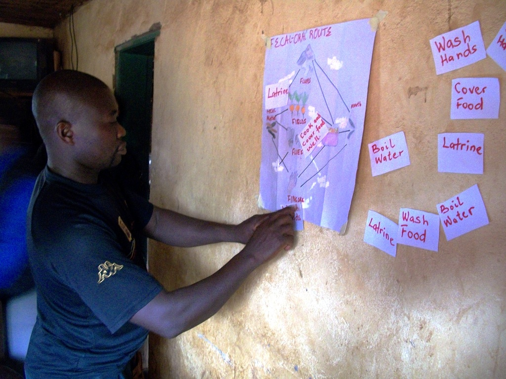 Community working on the Fecal Oral Route