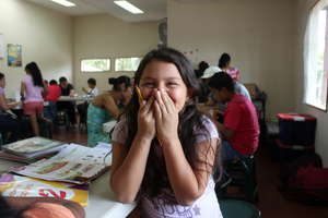 Young girl in our morning tutoring sessions