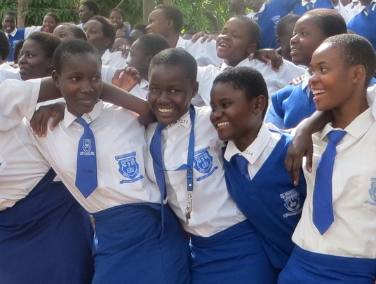 Mawego School girls GET UP!