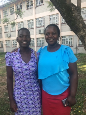 Sharon and Linda Olasya, Deputy Director of Umoja