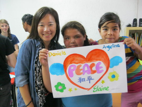 Painting a message of peace