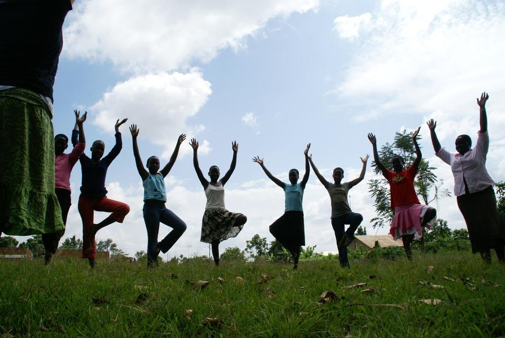 Finding balance with yoga.