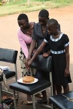 Celebrating graduation with a slice of cake!