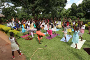 Yoga with the Teen Girls