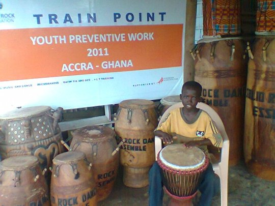 Support 100 youth in folk music and dance in Ghana