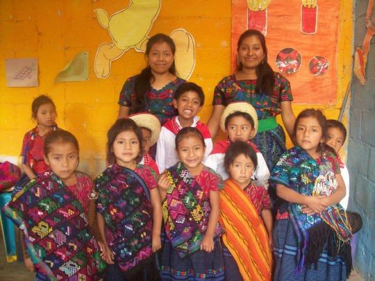 Proud local teachers in Guatemala
