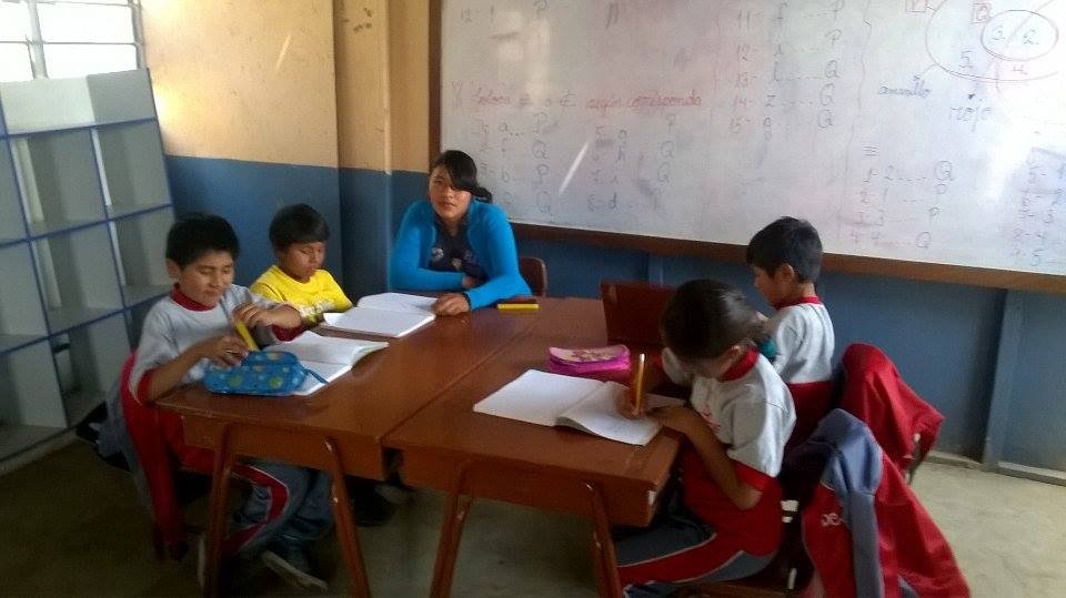 New teacher assistant Elizabeth in Peru