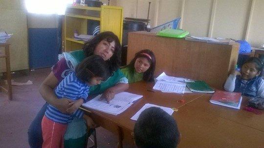 Local teacher Ediluz in Peru