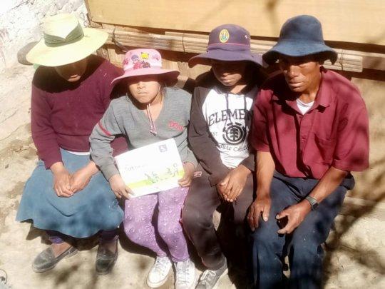 Local family in Peru