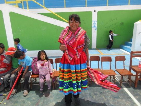 Local teacher in Peru