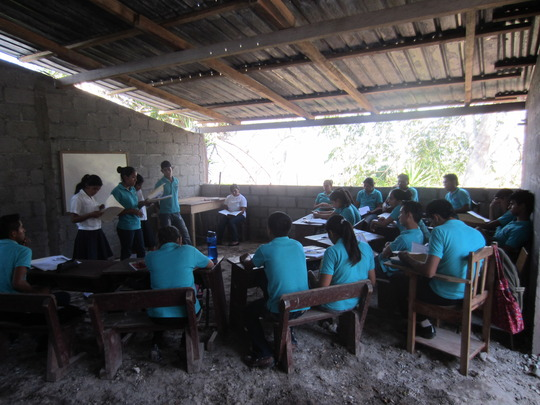 Local teachers in our secondary school in Honduras