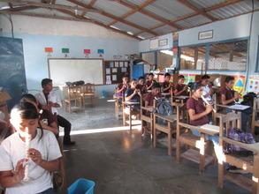 Music classes in the secondary school - Honduras