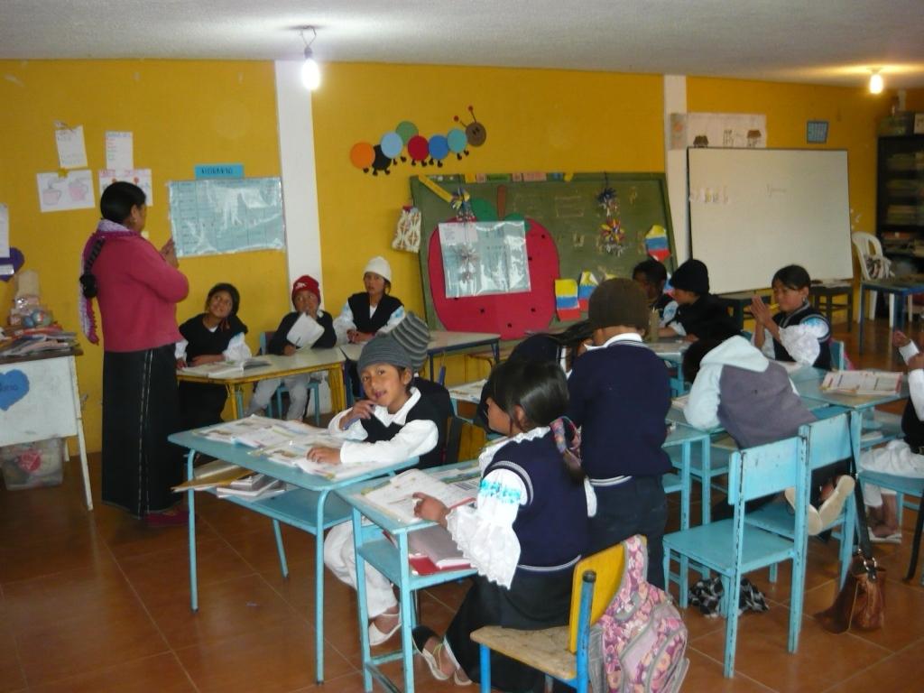 Local teachers in Ecuador