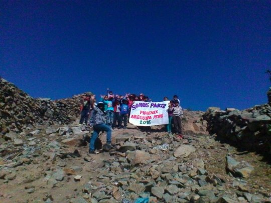 Teachers and students in Peru for the 7 Continents