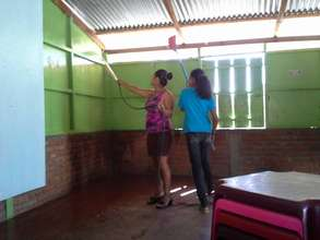 Our local teachers cleaning in Nicaragua
