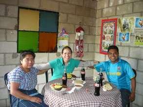 Our three teachers in Santa Maria