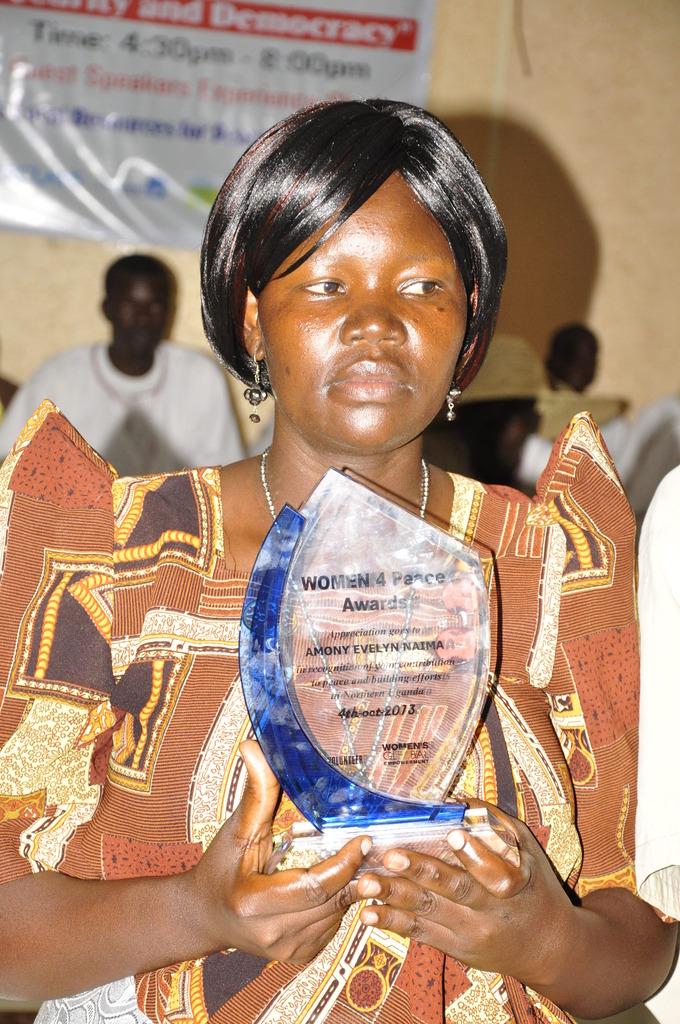 Evelyn, Women 4 Peace award recipient, 2013