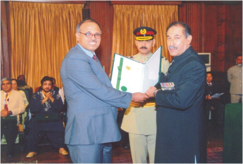 Project Leader Mr. Awan receiving the Civil Award