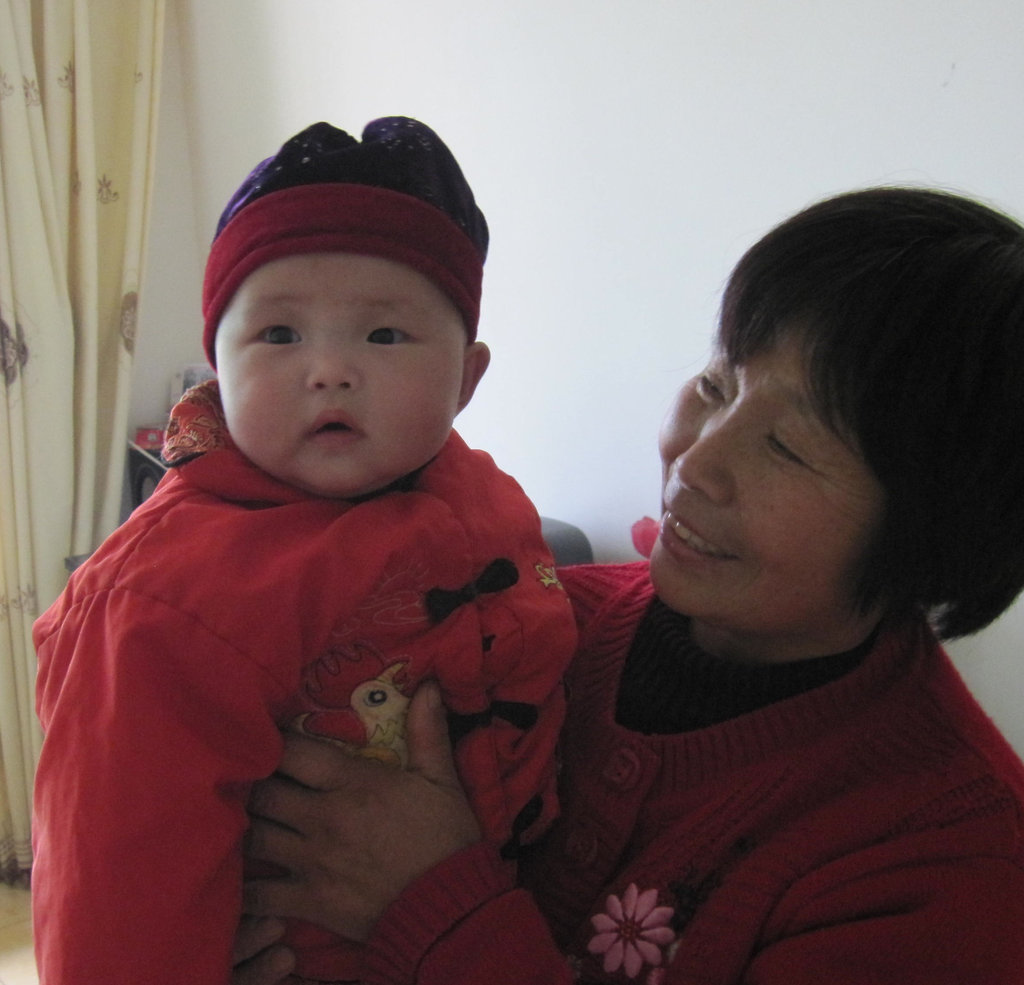 Xiao Yun and her carer