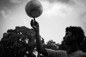 A child from SCSTEDS Football team