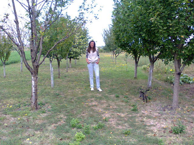 Aleksandra in her new garden