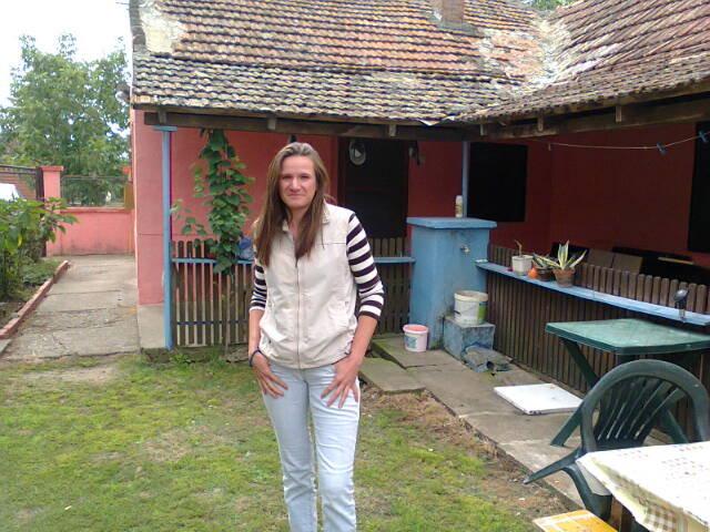 Aleksandra in the yard