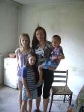 Aleksandra with her beautiful children