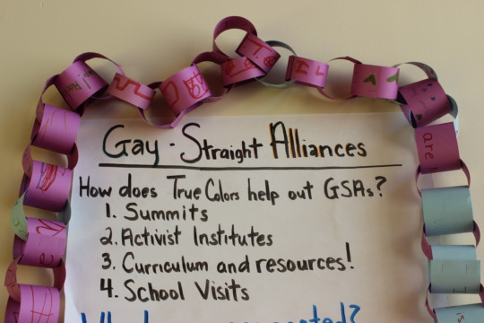 Gay/Straight Alliance Meeting with youth