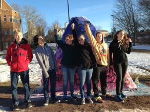 Rockville High School paints the conference rock