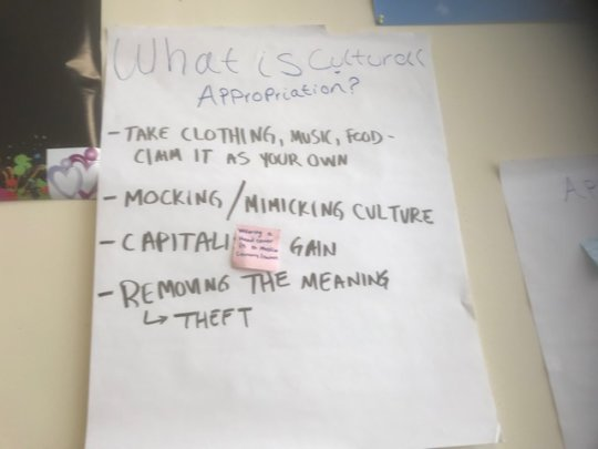 youth conversation on cultural appropriation