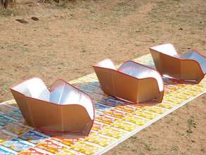 A display of solar cookits