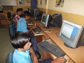 Computer session in progress in a juvenile home!