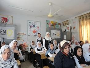 Hygine education at a school.