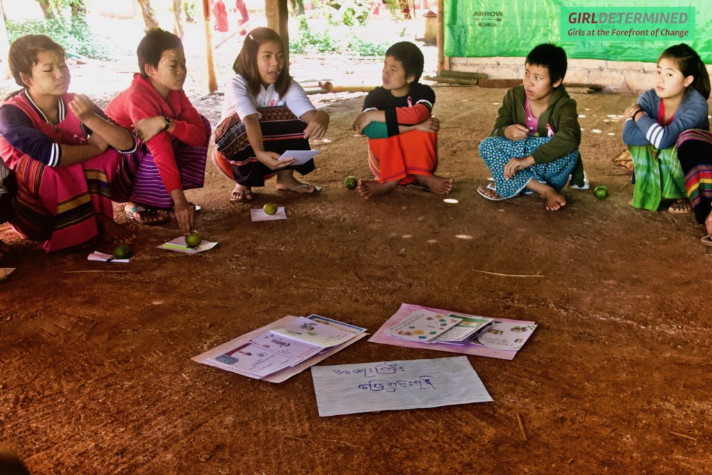 Girls discuss the challenges in their communities