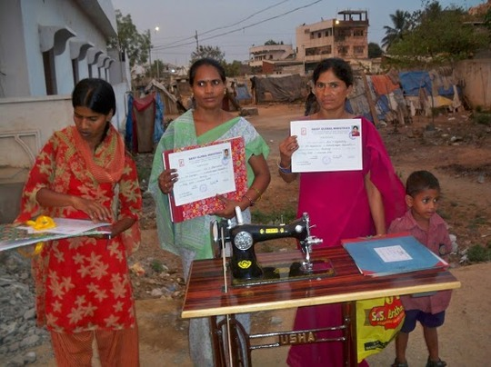 Qualified women in sewing with certificates