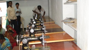 Distribution of sewing machines